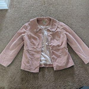 Anthropologie Elevenses Blush Jacket